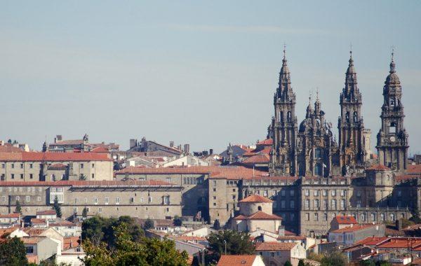Rückblick auf die Kathedrale von Santiago